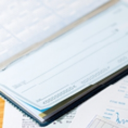 picture of a checkbook